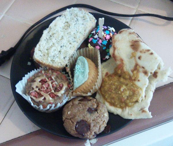 first vegan bake club meeting treats
