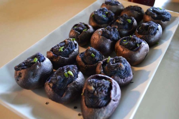 Michelle's Blue Twice-Baked Potatoes with Beet Chutney.