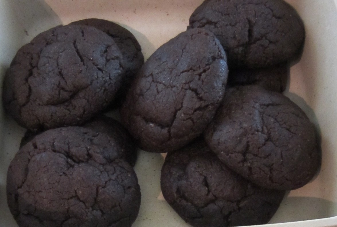 Red Bean Paste-Filled Chocolate Cookies