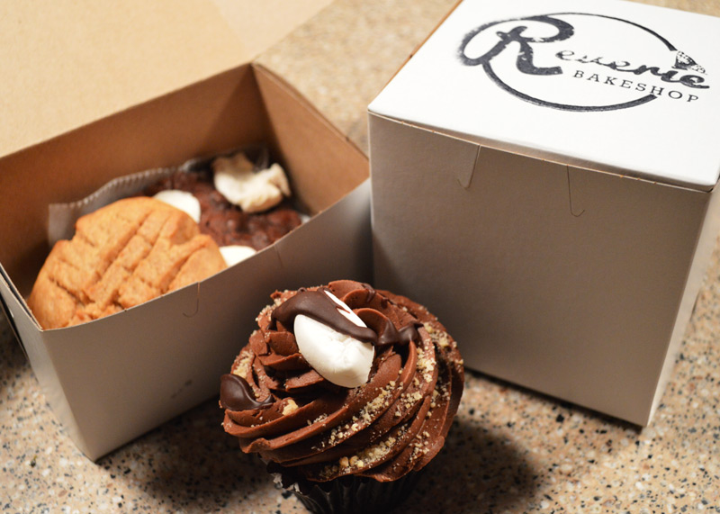 Reverie pb cookie, brownie, and s'more cupcake