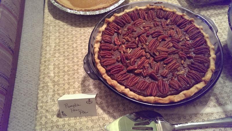 Slynn's pecan pumpkin pie
