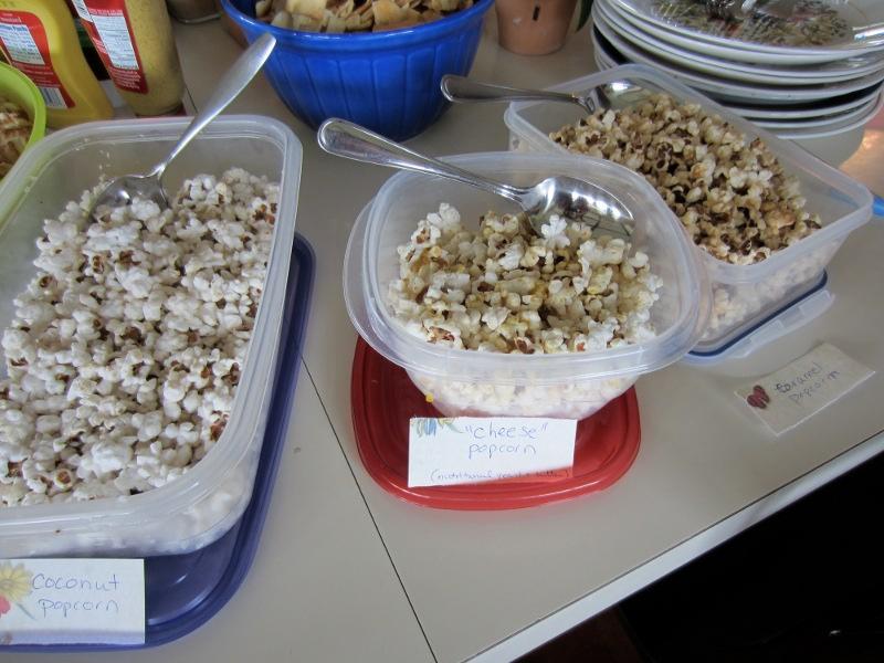 different popcorn flavors
