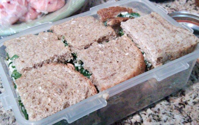 tofu basil arugula sandwiches