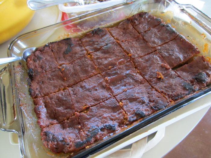bbq vegan rib squares