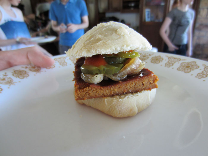 mini rvegan rib sandwich