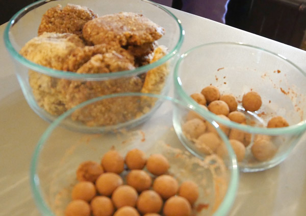 almond cookies and marzipan balls