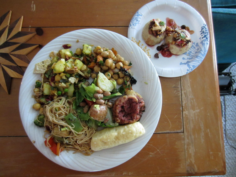 August 2014 plate of food