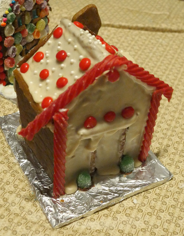 John's vegan gingerbread house