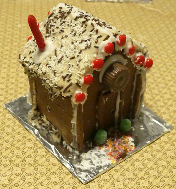 Slynn's vegan gingerbread house