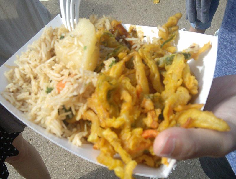 pakora plate at Texas Veggie Fair
