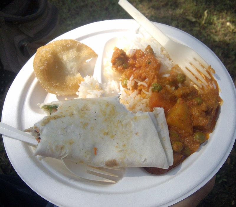 plate of food at Texas Veggie Fair