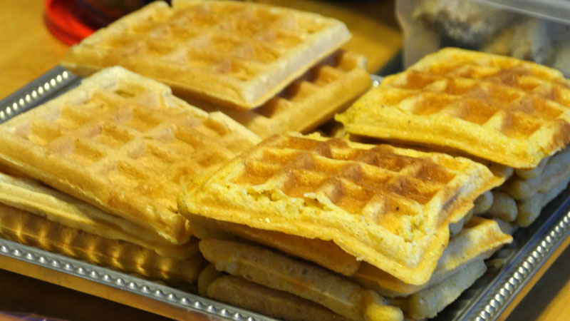 vegan buttermilk and cornbread waffles