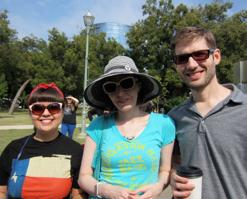 Kelly, Vanessa, and Bryan at the Veggie Fair
