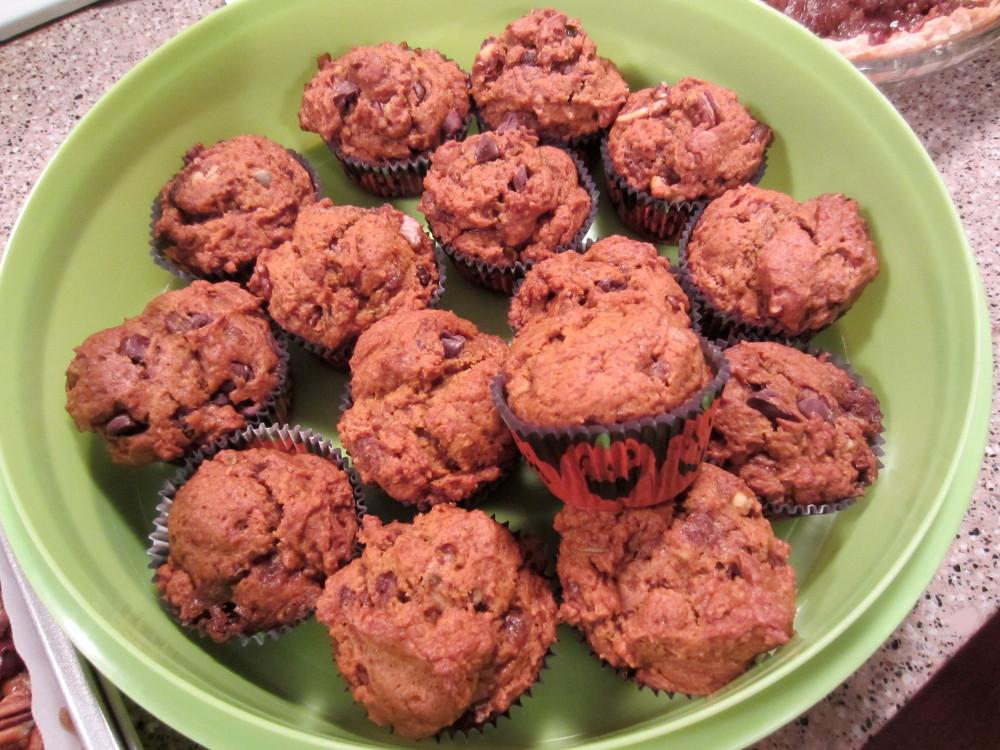Roy's vegan pumpkin muffins