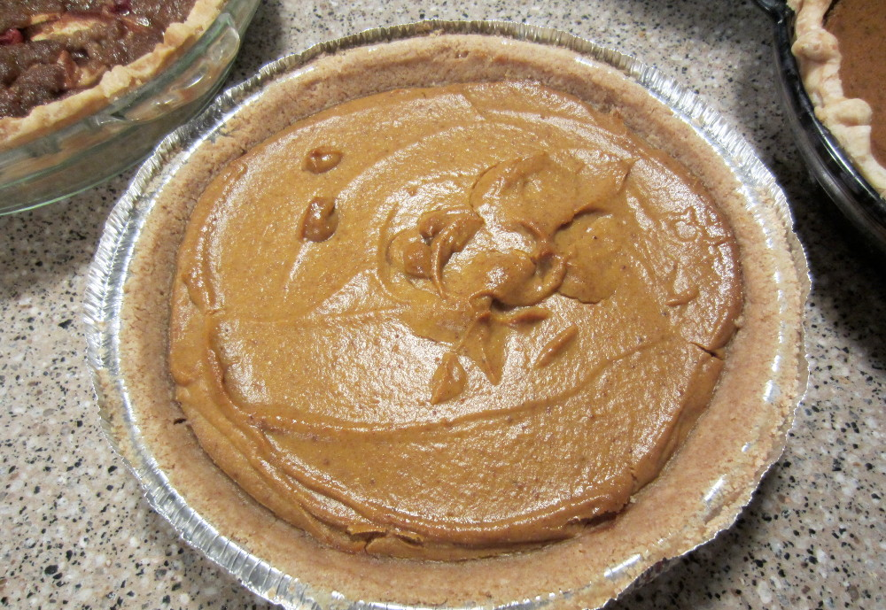 Taylor's vegan pumpkin pie