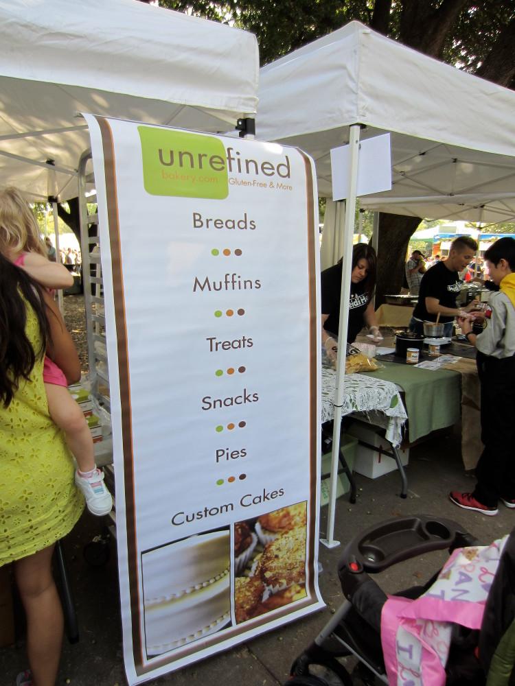 Unrefined stand at Texas Veggie Fair