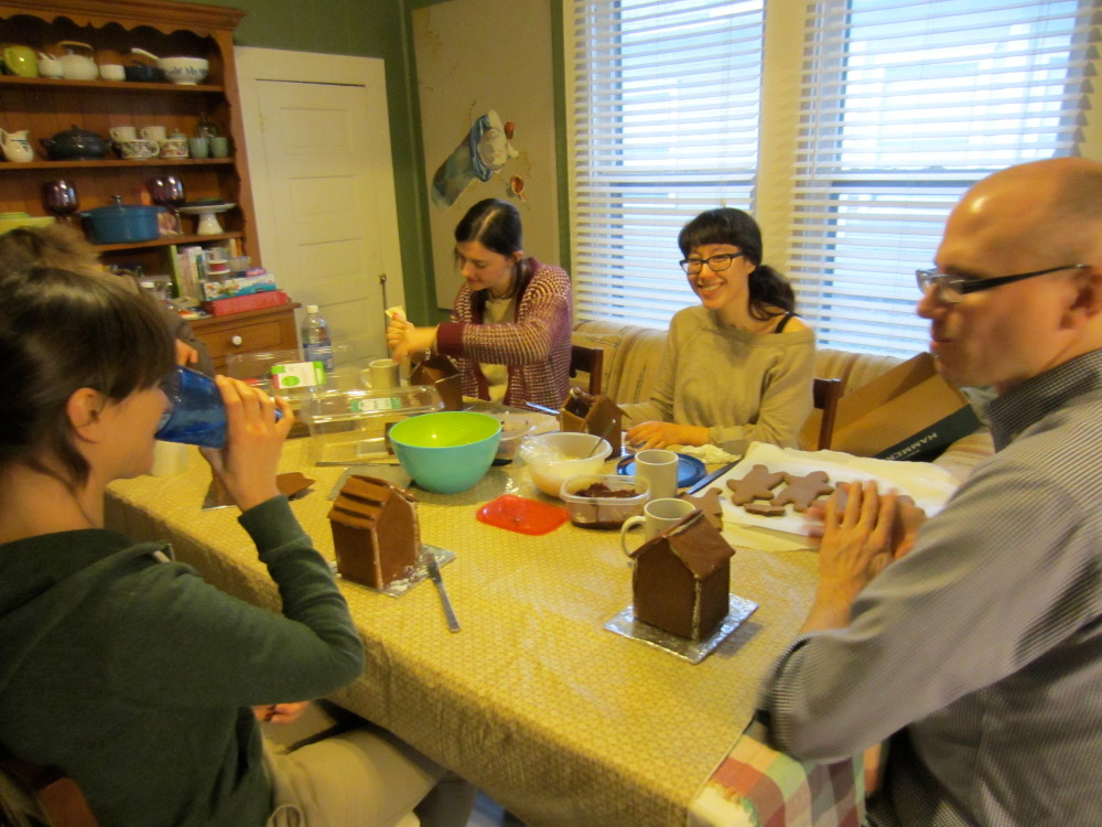 vegan bake club gingerbread house building