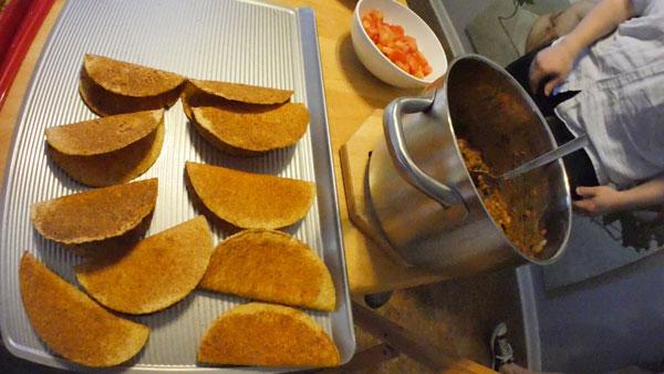 vegan loco lentil tacos