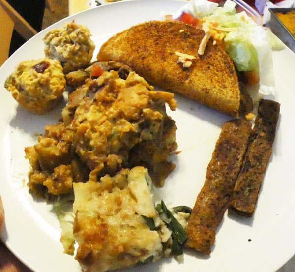 March 2015 vegan plate
