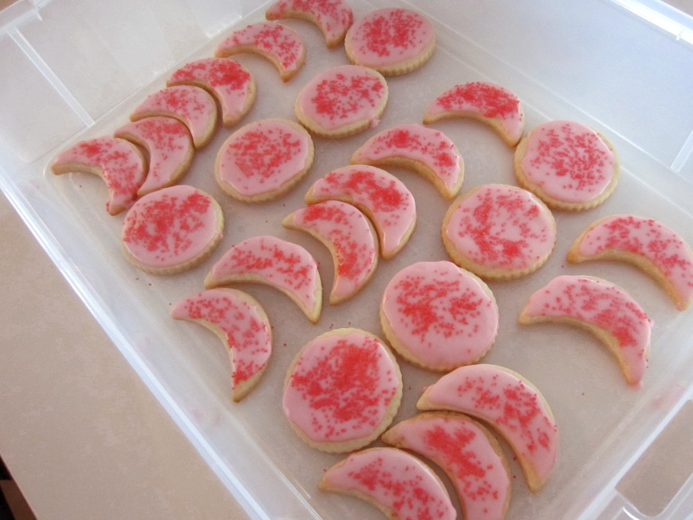 pink moon cookies