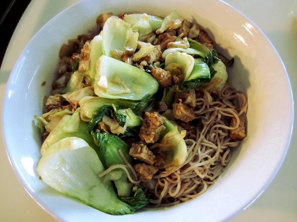bok choy tempeh noodles