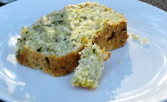 zucchini lemon cake slice