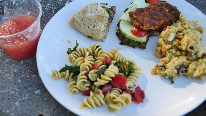 June 2015 vegan food plate