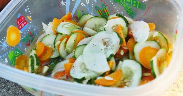 cucumber turnip carrot salad