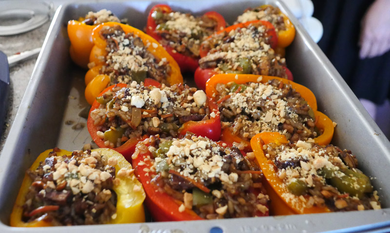 kung pao stuffed peppers