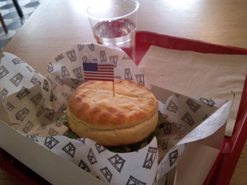 M.O.B. veggie burger