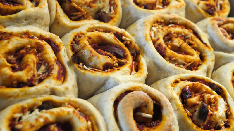 vegan pizza cinnamon rolls