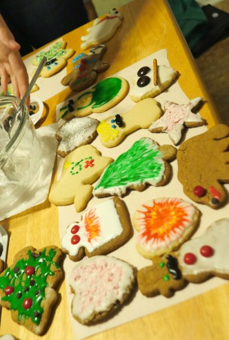 vegan decorated cookies