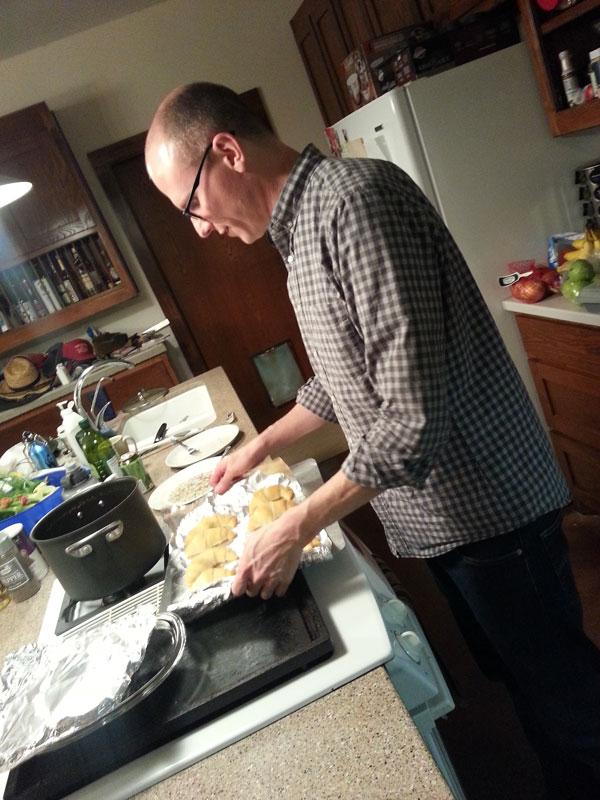 John baking rolls