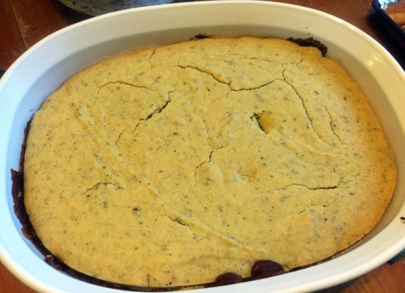 pumpkin bean cornbread casserole