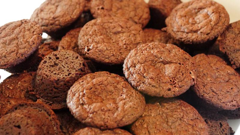 vegan brownie bites