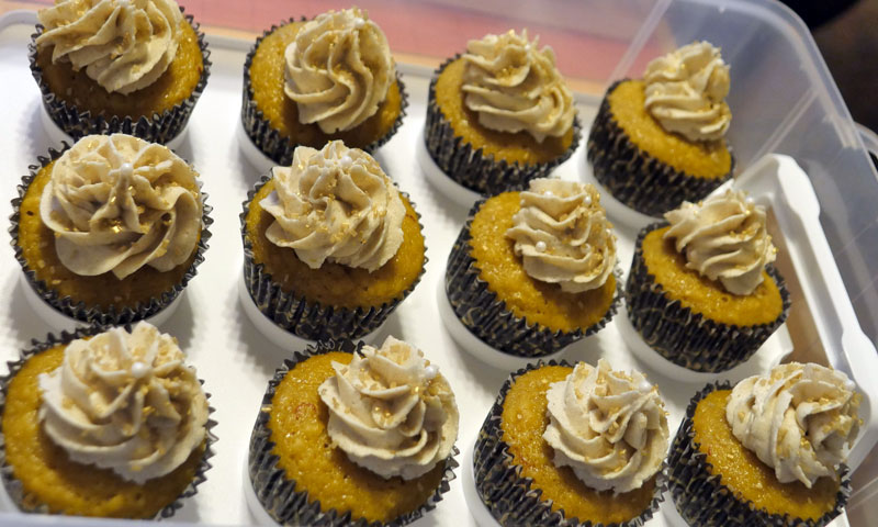 cardamom gold cupcakes