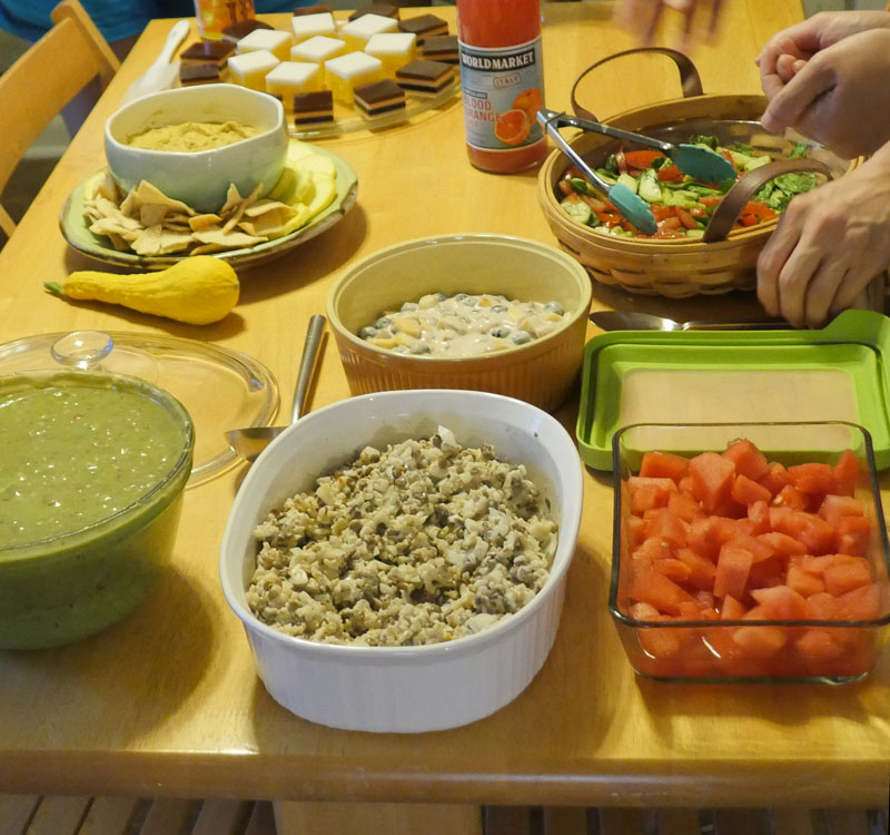 cool foods table