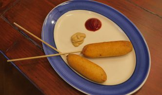 vegan corn dogs