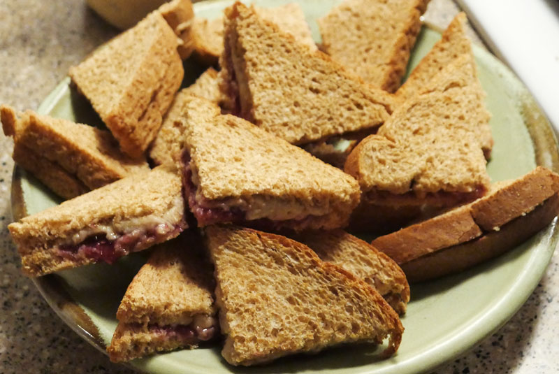 peanut butter jelly sandwiches