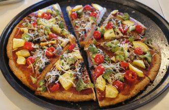 cold vegan pizza
