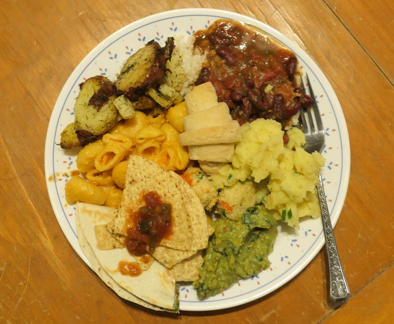 vegan plate October 2016