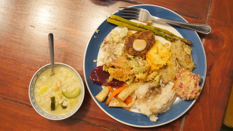 November 2016 vegan plate