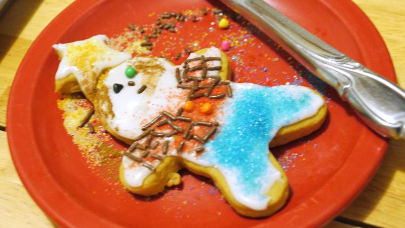 lumberjack angel cookie