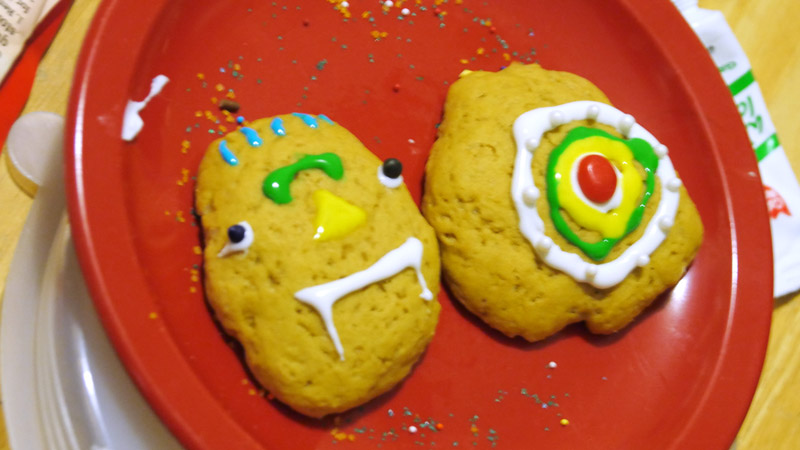 mound shaped Christmas cookies