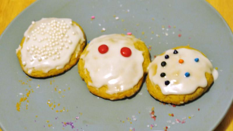 snowman triptych cookie