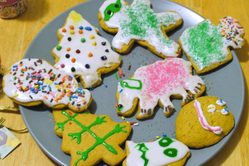 vegan decorated cookies