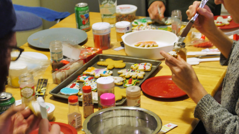 cookie decorating table