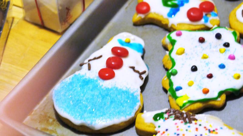 vegan snowman cookie