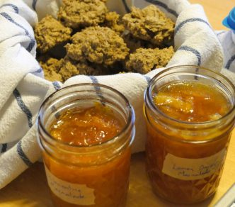 marmalade and oat biscuits