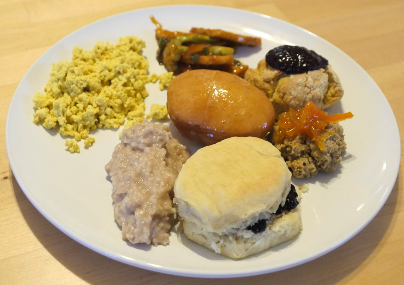 plate of vegan jam foods